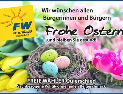Wir wünschen allen Bürgerinnen und Bürgern Frohe Ostern