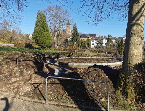 Entstehung des neuen Memoriam-Garten in Fischbach-Camphausen