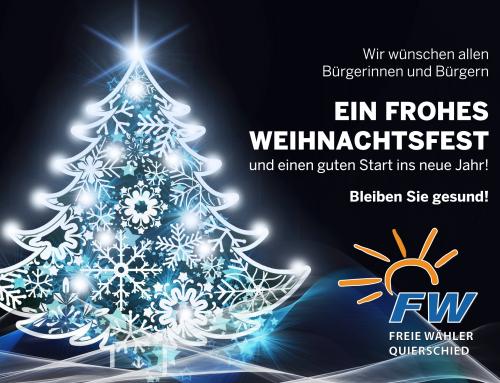 Wir wünschen allen Bürgerinnen und Bürgern Frohe Weihnachten